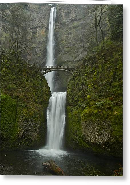 Multnomah Falls 0403131b Greeting Card