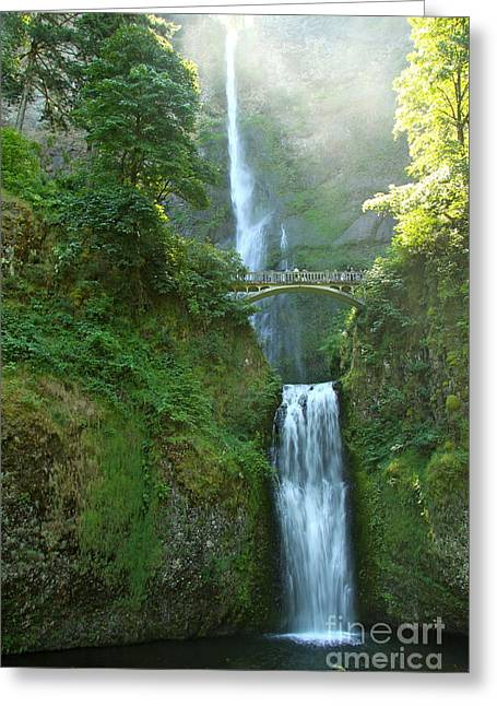 Multnomah Falls Greeting Card by Christiane Schulze Art And Photography