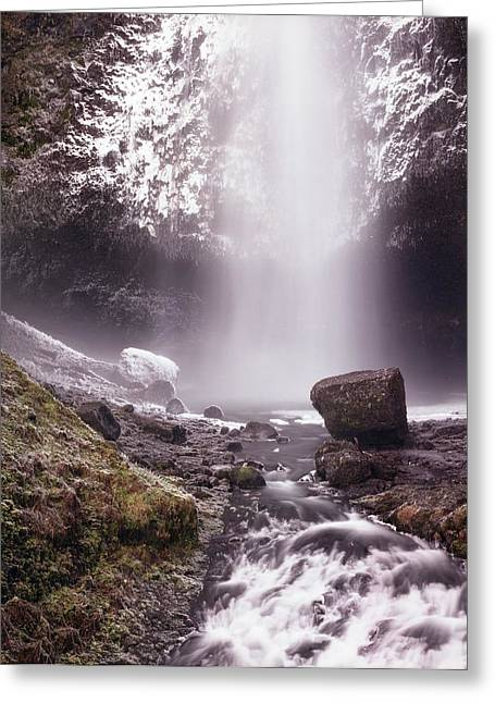 Multnomah Falls In Ice Greeting Card