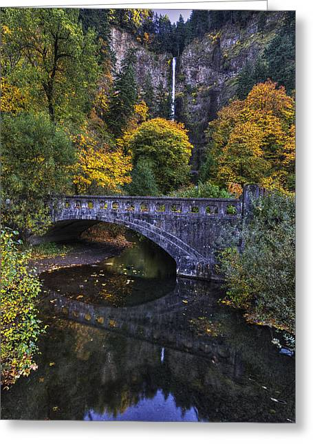 Multnomah From Afar Greeting Card by Mark Kiver