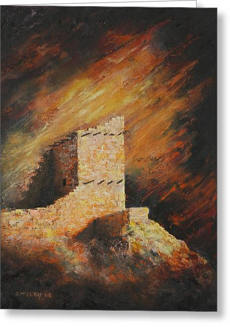 Mummy Cave Ruins 2 Greeting Card by Jerry McElroy