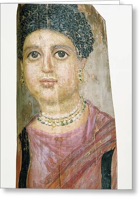 Mummy Portrait Attributed To Malibu Painter Greeting Card