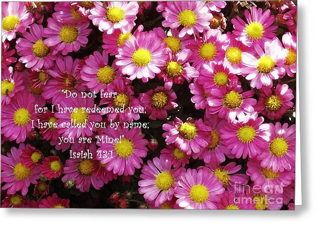 Mums The Word With Verse Greeting Card