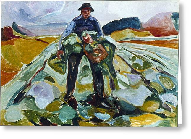 Munch Cabbage Field, 1916 Greeting Card by Granger
