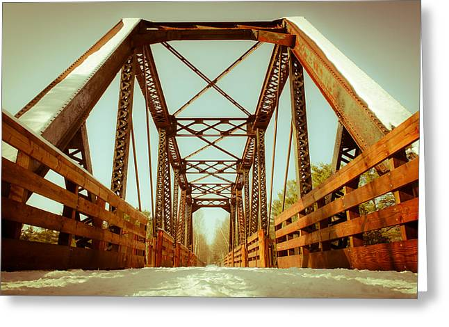 Greeting Card featuring the photograph Munger Trail Crossing by Mark David Zahn Photography