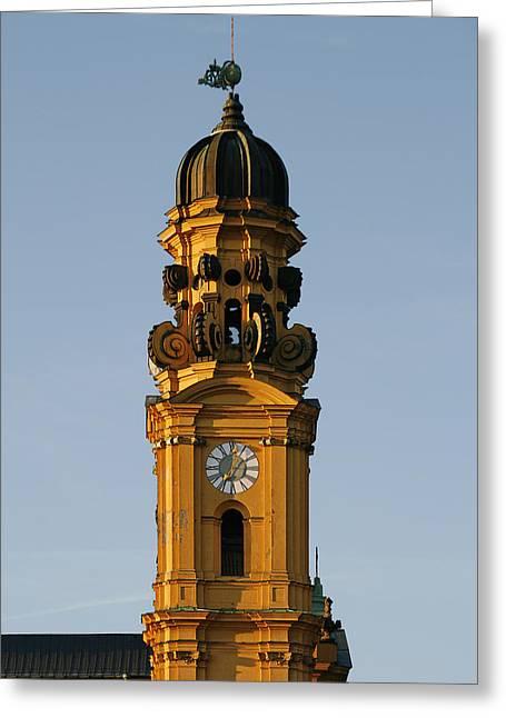 Munich Theatine Church Of St. Cajetan - Theatinerkirche St Kajetan Greeting Card by Christine Till