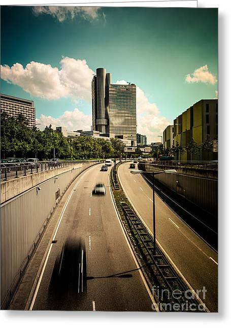Munich Traffic Greeting Card by Hannes Cmarits