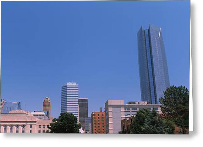 Municipal Building With Devon Tower Greeting Card by Panoramic Images