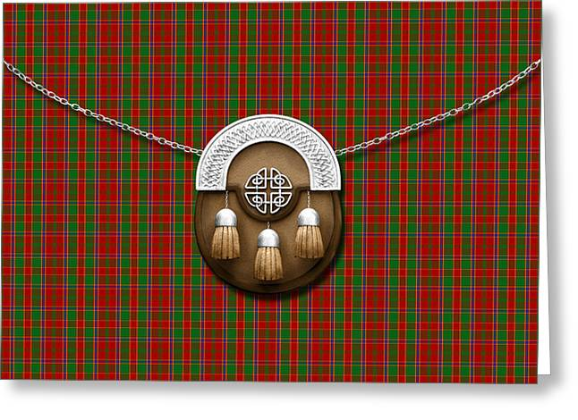 Munroe Tartan And Sporran Greeting Card by Chris MacDonald