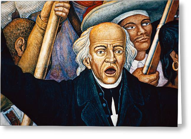 Mural Depicting Miguel Hidalgo, Mexico Greeting Card