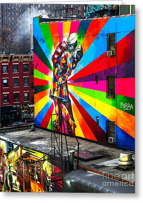 Mural  In New York - Usa Greeting Card