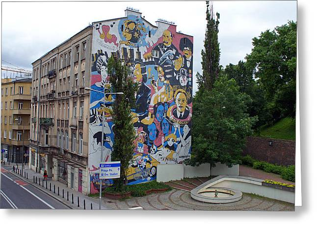 Mural Greeting Card by Kees Colijn