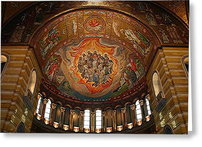Mural Of The Pentecost - St Louis Basilica Greeting Card