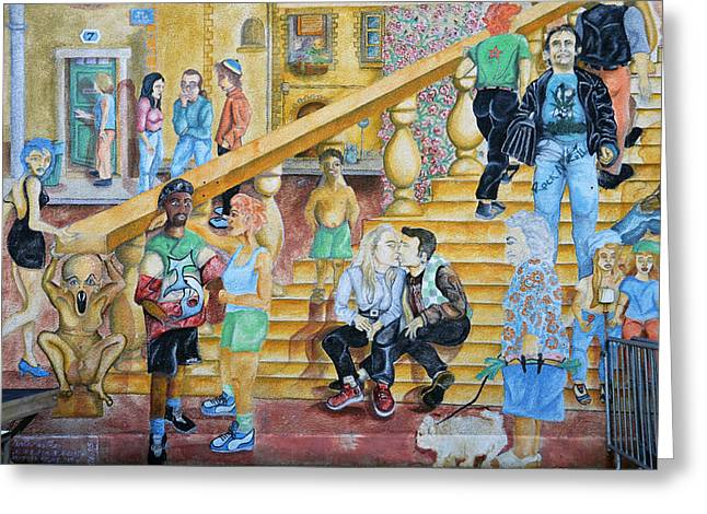 Mural Painting In Poitiers Greeting Card by RicardMN Photography