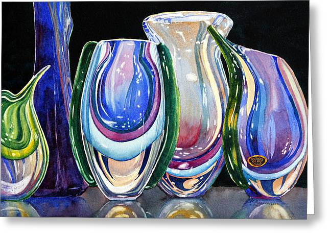 Murano Crystal Greeting Card by Roger Rockefeller