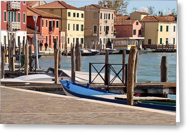 Greeting Card featuring the photograph Murano Dock by Walter Fahmy