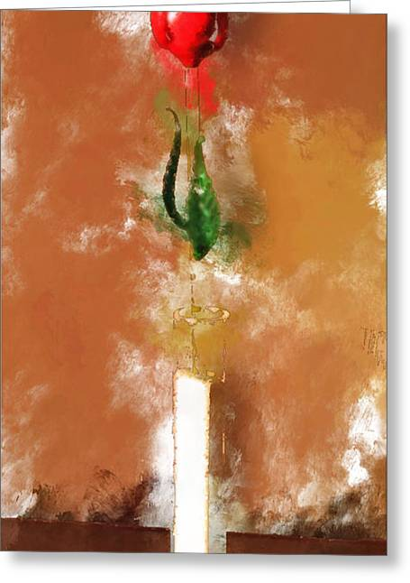 Murano Glass Tulip Greeting Card by Yury Malkov