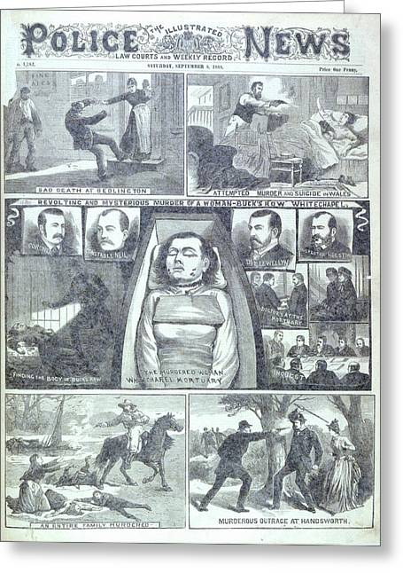 Murder At Buck's Row Greeting Card by British Library