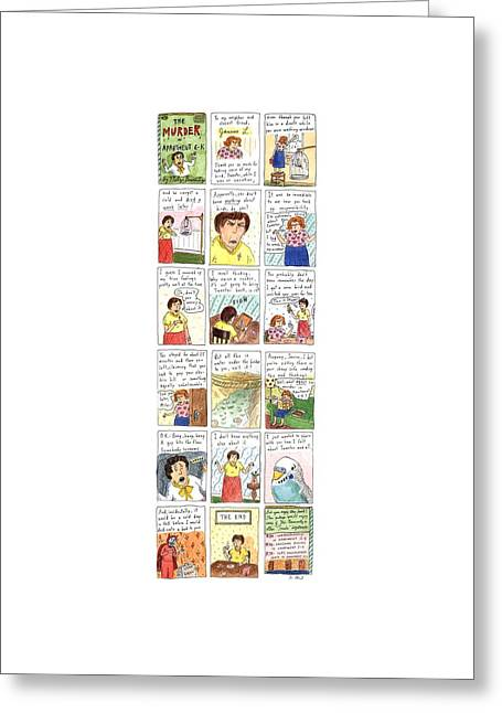 Murder In Apartment 6-k Greeting Card by Roz Chast