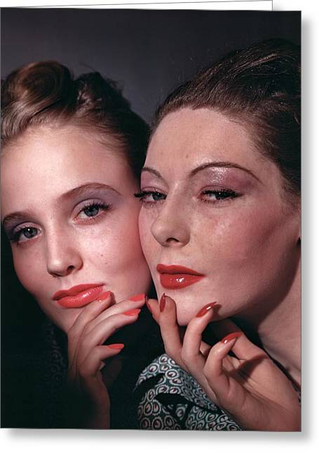 Muriel Maxwell And Ruth Knox Elden Greeting Card by Horst P. Horst