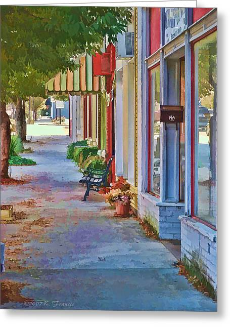 Murphy Nc Sidewalk Greeting Card by Kenny Francis