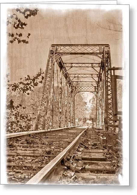 Murphy Trestle Greeting Card by Debra and Dave Vanderlaan