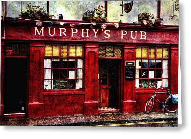 Greeting Card featuring the photograph Murphy's Pub by Brian Tarr