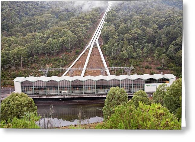 Murray 1 Power Station Greeting Card by Ashley Cooper