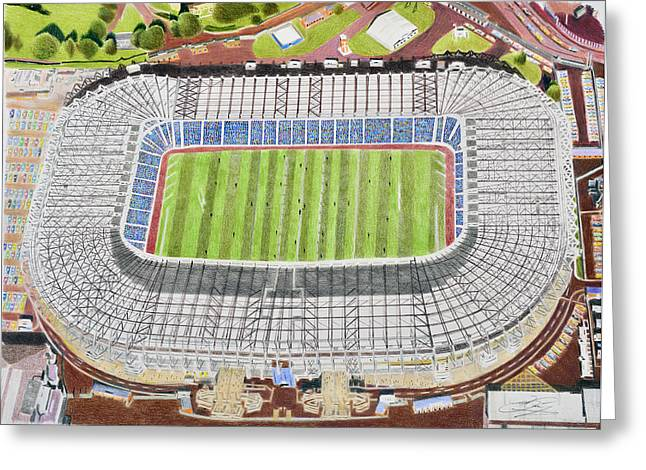 Murrayfield Stadia Art - Scotland Rugby Union Greeting Card by Brian Casey