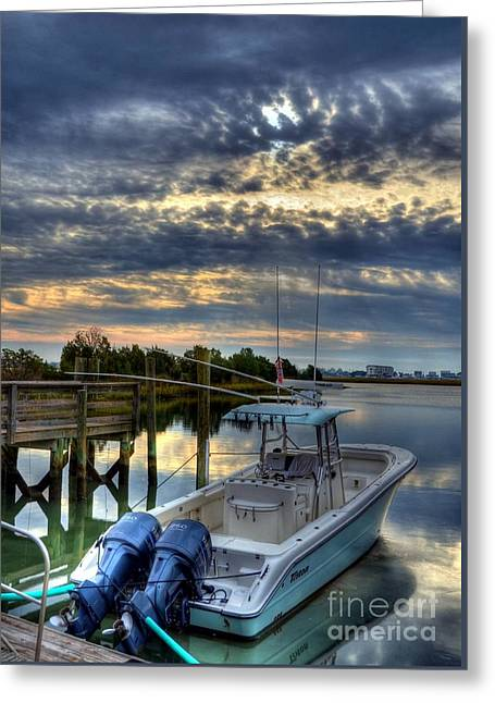 Murrells Inlet Morning 4 Greeting Card by Mel Steinhauer