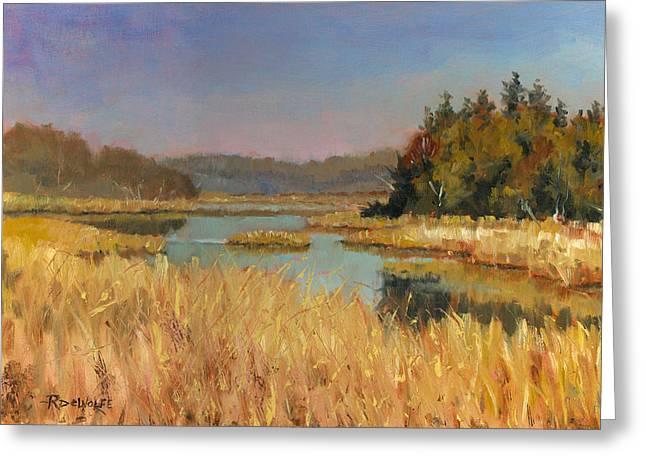 Murvale Creek Greeting Card by Richard De Wolfe