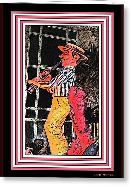 Muscat Ramble Clarinetist 2 Greeting Card by Marian Bell