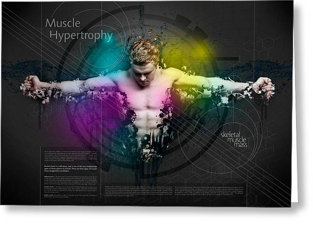 Muscle Hypertrophy Greeting Card by Samuel Whitton