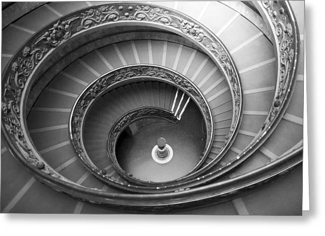 Greeting Card featuring the photograph Musei Vaticani Stairs by Nathan Rupert