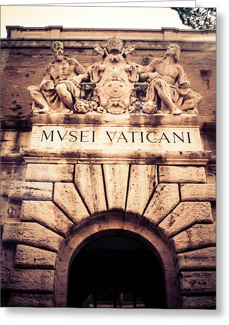 Greeting Card featuring the photograph Musei Vaticani Uscita by Rob Tullis