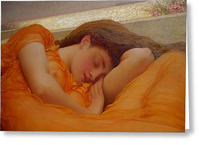 Museo De Ponce - Flaming June I Greeting Card by Richard Reeve