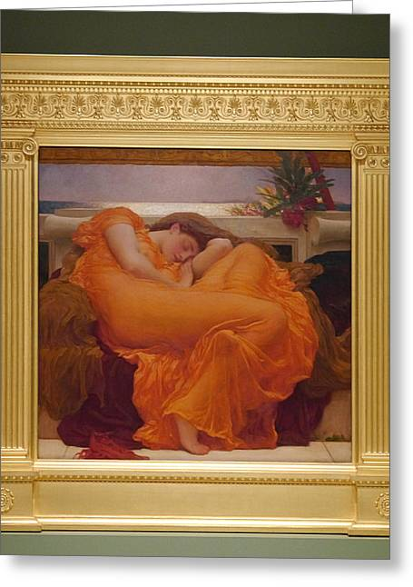Museo De Ponce - Flaming June II Greeting Card by Richard Reeve