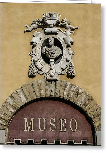 Museo Di S Maria Door Greeting Card