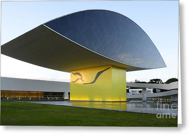 Museu Oscar Niemeyer Brazil 2 Greeting Card by Bob Christopher