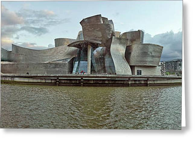 Museum At The Waterfront, Nervion Greeting Card by Panoramic Images