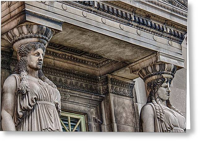 Museum Caryatids Greeting Card