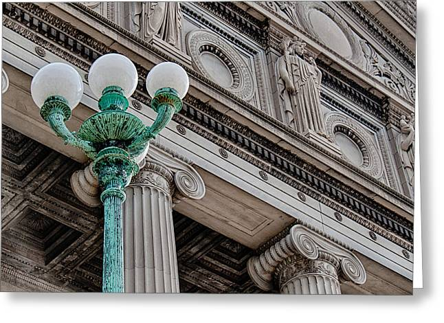Museum Facade Greeting Card by Mike Burgquist
