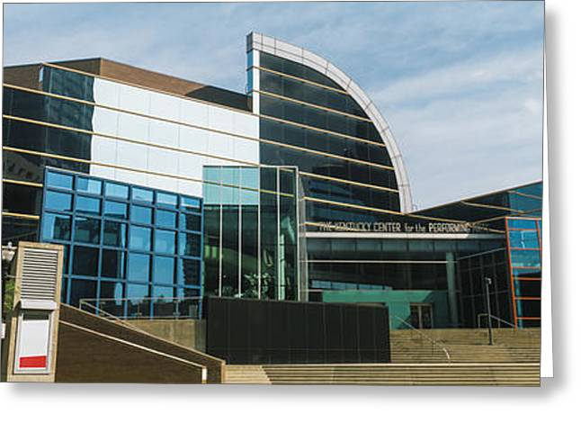 Museum In A City, The Kentucky Center Greeting Card by Panoramic Images