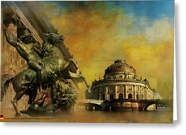 Museum Island Greeting Card by Catf