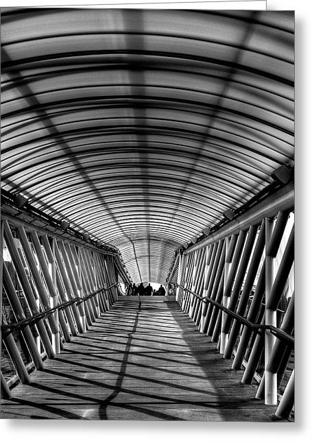 David Patterson Greeting Cards - Museum of Flight Bridge Greeting Card by David Patterson
