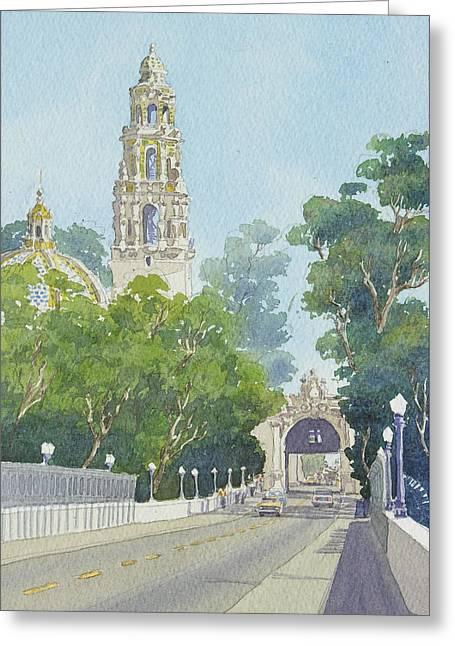 Museum Of Man Balboa Park Greeting Card