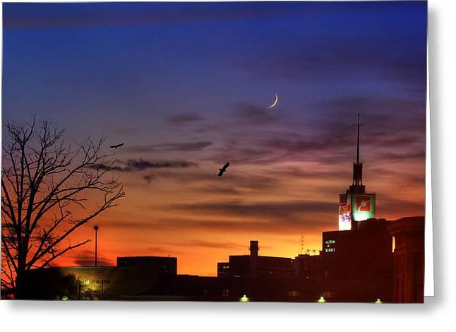 Museum Of Science Sunset - Boston Greeting Card by Joann Vitali