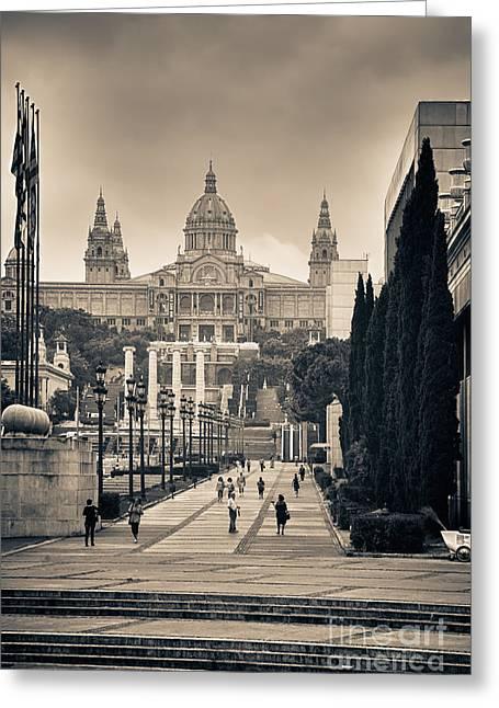 Museum Palau Nacional D'art De Catalunya Greeting Card by Gabriela Insuratelu