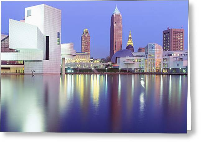 Museum, Rock And Roll Hall Of Fame Greeting Card by Panoramic Images