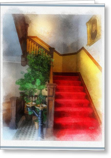 Museum Stairs Greeting Card by Rick Lloyd